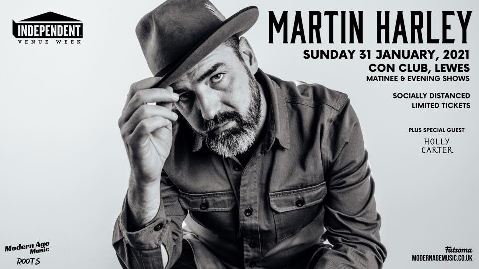 Martin Harley - Sorry this event has been postponed