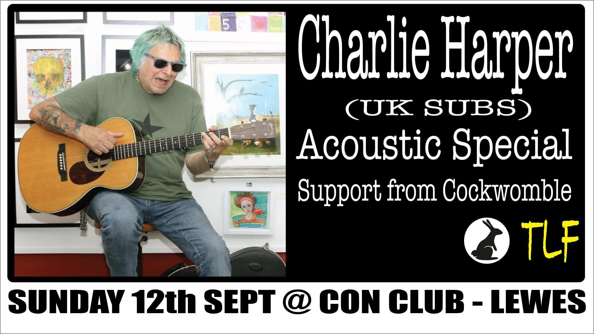 Charlie Harper (UK Subs) - Solo Show (New Date)